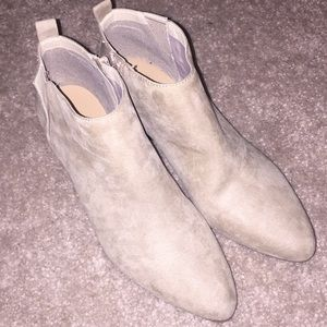 Tan Old Navy Suede Ankle Booties